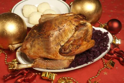 Artikelgebend ist ein Kräuter-Weihnachtsgans-Rezept.